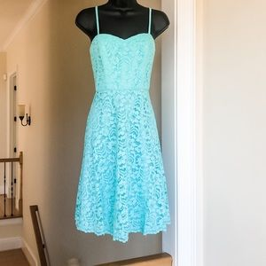 DAVIDS BRIDAL sz 4 lace SPA colored dress